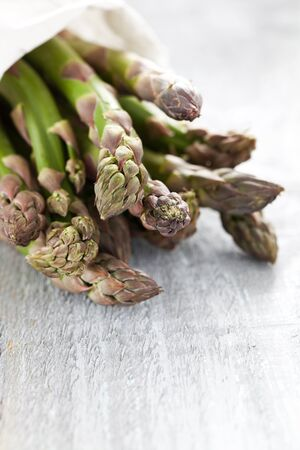 green asparagus with copy space Stock Photo - 13571016