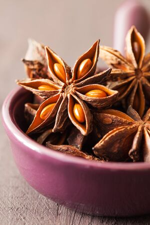 anise: Anisstern in Schale  star anise in a bowl   Stock Photo