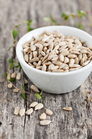 sunflower seeds: sunflower seeds in a bowl  Stock Photo
