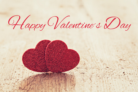 Karte für Valentinstag mit Text Standard-Bild - 25835046