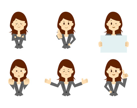 Businesswoman, Office worker, Pause