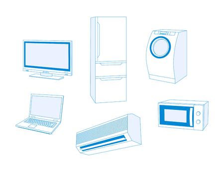 Electric appliances Ilustração
