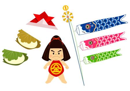 Japanese Children's Day elements
