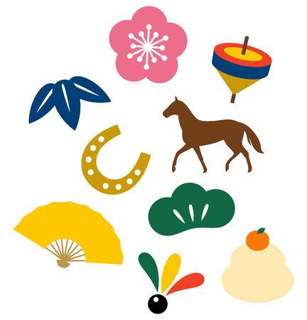 Japanese New Year elements