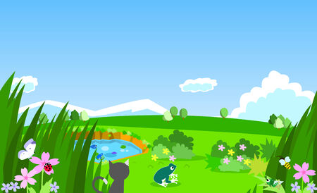mere: Nature Scenery Illustration