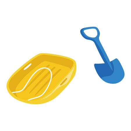 Shovel and sled Imagens - 31804639