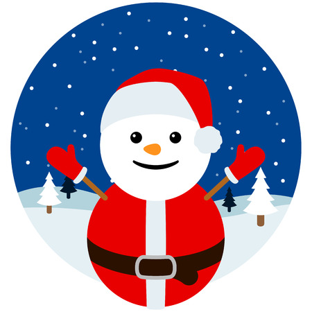 Snowman Santa Ilustração