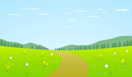 Landscape of spring