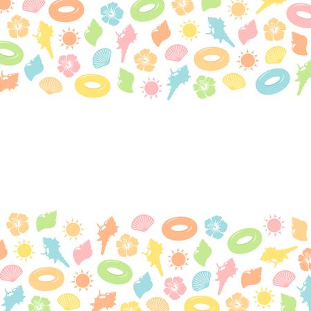 Background Material of summer Ilustração