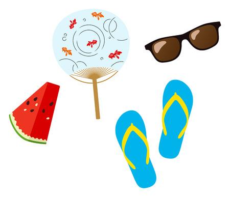 Images of summer Ilustração