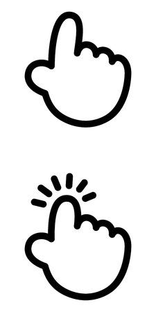 Tap with your finger Ilustração