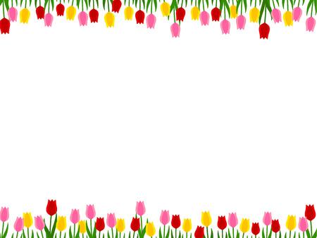 Frame of tulips Ilustração