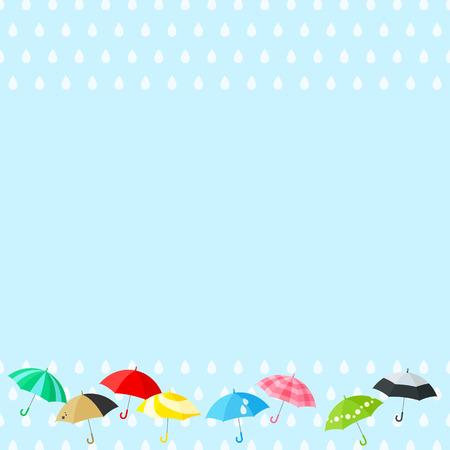 The rainy season Vector