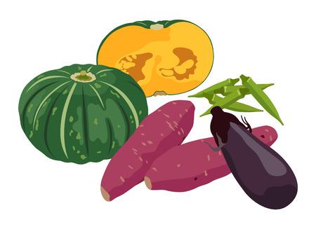 Fresh vegetables Çizim
