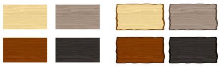 Wooden boards Ilustração