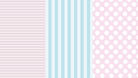 Wallpaper border and dots and stripes Illustration