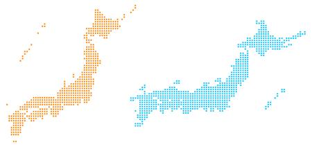 Dot map of Japan Ilustração