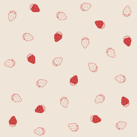 Strawberry background 일러스트