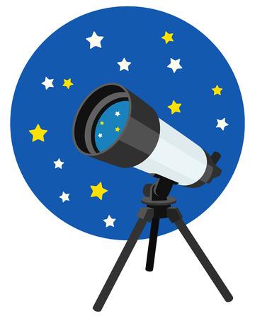 Astronomical telescope Ilustração