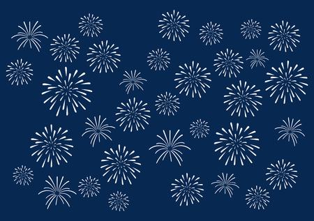 Summer Fireworks background Imagens - 47866760