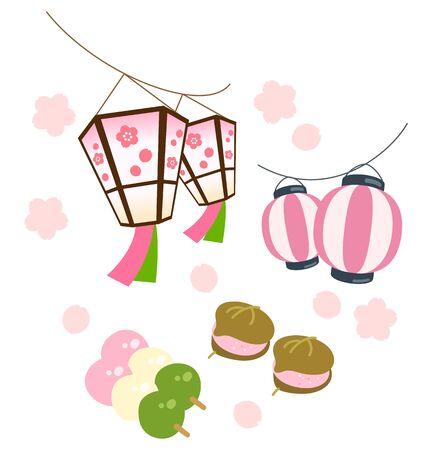 Cherry blossom viewing Ilustração