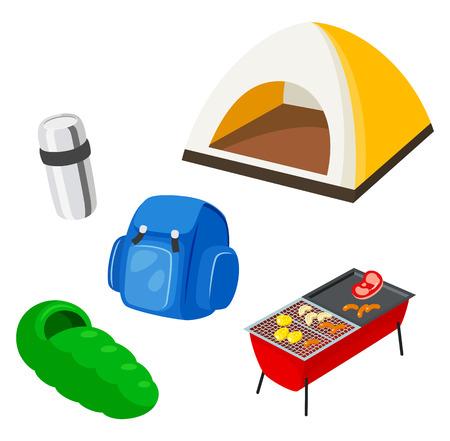 Camping equipment Ilustração