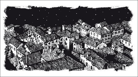 A Town old town Illustration
