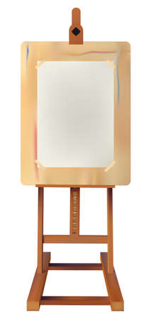 Easel  Write or draw on paper what you want