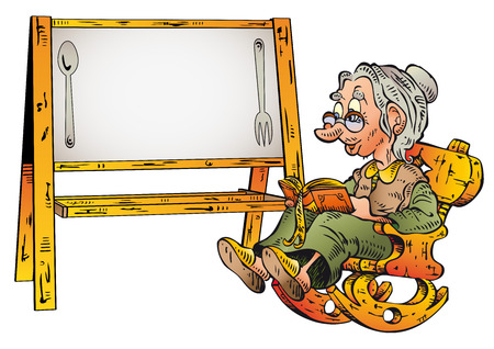 adult only: Grandmother Recipe Write your recipe in the white space Illustration