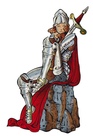 mantle: Joan Of Arc: a girl in armor Illustration