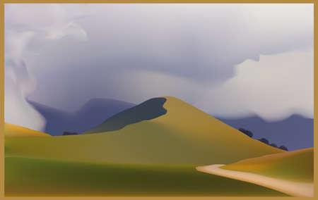 melancholic: Hill with melancholic sky