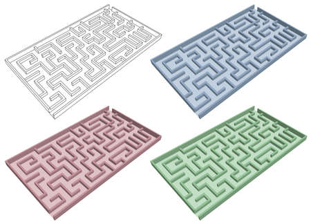 Labyrinth in three colors
