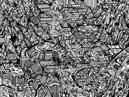industrialist: future City Illustration