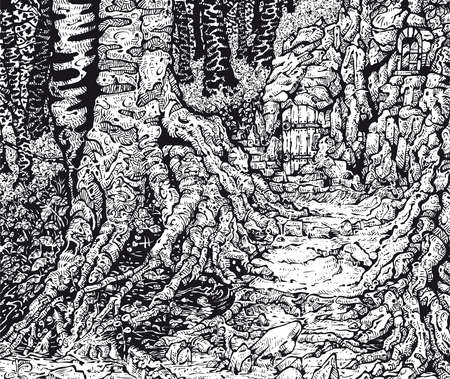 hiding: Hiding Place Illustration