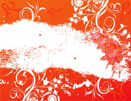 abstract flower spring illustration vector orange Vector