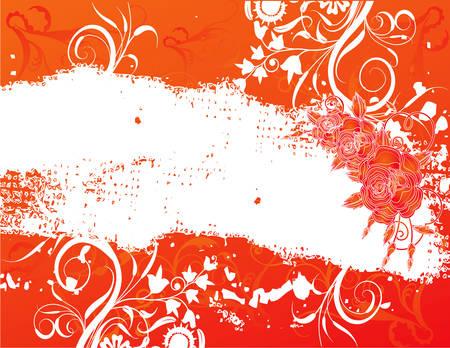 abstract flower spring illustration vector orange