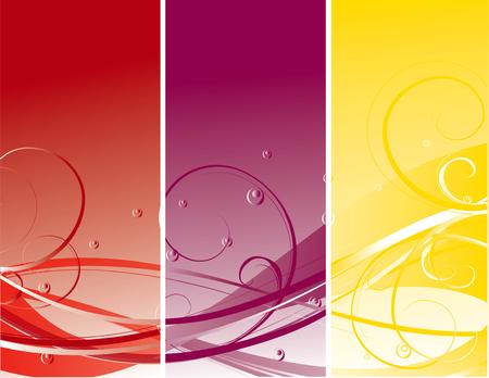 abstract flower color illustration vector Illustration