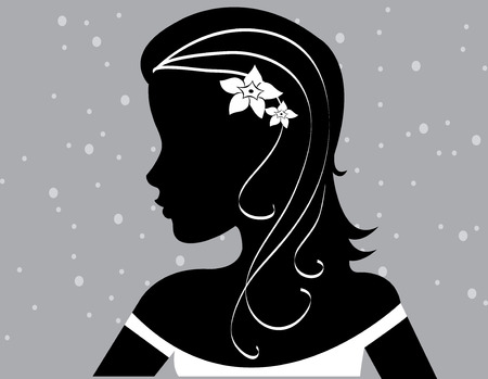 abstract women illustration vector silhouette black grey
