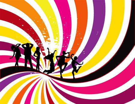 flyer background: Party Flyer achtergrond illustratie vector Disco