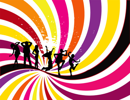 Party Flyer background Illustration vector Disco Ilustracja