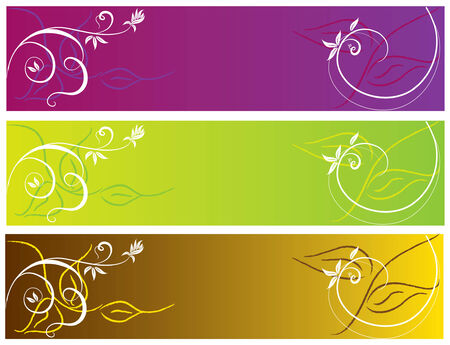 abstract color banner illustration spring