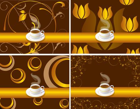bar restaurant lounge coffee Illustration vector café dish Stock Vector - 8712531