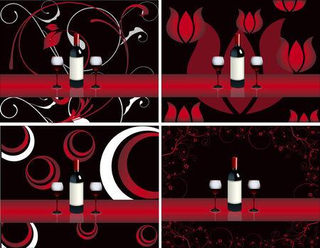 bar restaurant lounge coffee Illustration vector wine glassesdish Stock Vector - 8712529