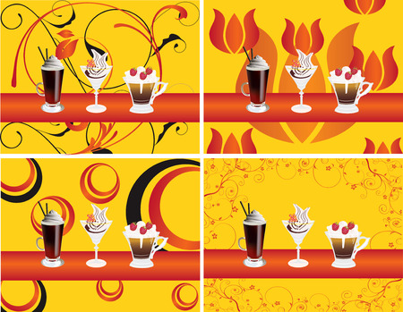 bar restaurant lounge coffee Illustration vector food dish Ilustracja
