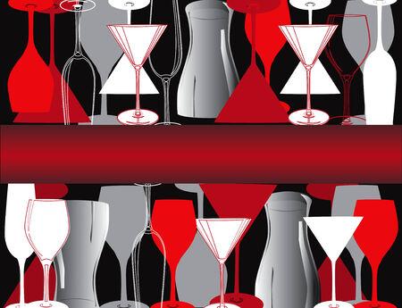 bar restaurant lounge coffee Illustration vector wine dish Stock Vector - 8712526