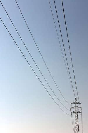 eletrical: High Voltage Pole Stock Photo