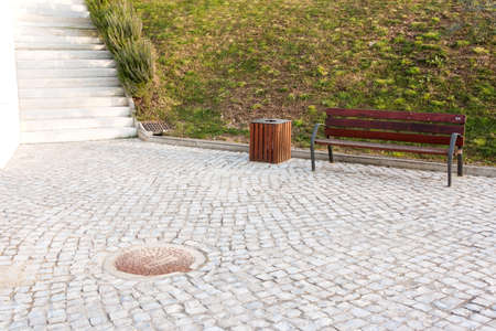 Solitary Bench in a Park at Ansi�o - Portugal  photo
