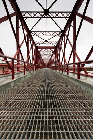 Perspective to infinity at the bridge D.Am�lia Santar�m - Portugal photo