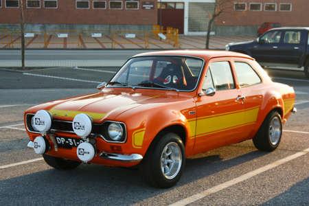 MARINHA GRANDE, PORTUGAL - FEBRUARY 11: A Ford Escort MKI parked during