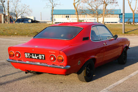 MARINHA GRANDE, PORTUGAL - FEBRUARY 11: A Opel Manta parked during 12th Classic and Sport Cars Meeting of Motor Club Of Marinha Grande, in Marinha Grande, Portugal on February 11, 2012.